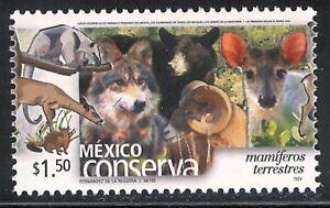 pc004 Mexico Conserva MNH paper 1 Sc#2256 Mc#2964A Et#mc004 Terrestrial mammals