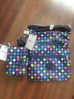 Set of 2 NEW KIPLING Keiko Crossbody Shoulder Bag & Purse AC7670 Multi Dots