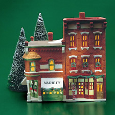 Dept 56 Christmas In The City - Variety Store & Barber Shop 59722 Retired - Mint