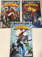 NEW SUPER-MAN #1 & #2 DC UNIVERSE REBIRTH VARIANT COMIC BOOK SUPER HERO