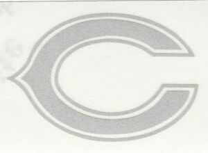 REFLECTIVE Chicago Bears 2 inch fire helmet hard hat decal sticker RTIC