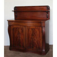 An Early Victorian Mahogany Chiffonier Sideboard Cottage Size