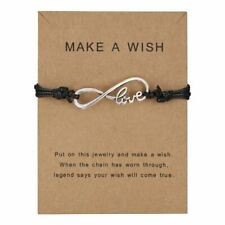 Fashion String Weave Love Bracelet Bangle Make A Wish Card Handmade Jewelry Hot