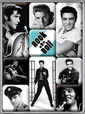 Elvis Presley Rock´n Roll Nostalgie Kühlschrank Magnet Set 9-teilig MAG20