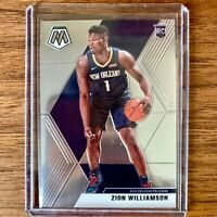 2019-20 Panini Mosiac Rookie Base Zion Williamson Card #209 Pelicans