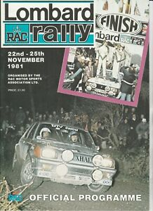 Lombard RAC Rally Official Programme 1981
