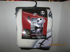 Nightmare Before Christmas Jack & Spider Disney Plush Throw Blanket
