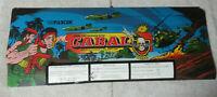 "original CABAL   23 1/4 -8 3/4"" sign marquee ARCADE VIDEO GAME  cF89"