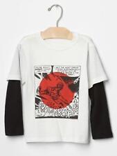 Baby GAP JunkFood 2-in-1 Tee Marvel Iron Man Long Sleeve Top Shirt 4T 4 NWT $25