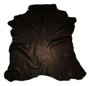 Reduced $ Heavy 3.5 oz Black Goatskin Leather Hide Bags Jackets Upholstery
