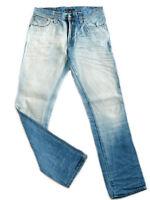 Neu Nudie Herren Slim Fit Jeans Hose | Slim Jim Crispy Worn In 1 | W33 L34