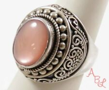 Suarti Bali Sterling Silver 925 Pink Mother Of Pearl Ring Sz 7 (21.8g) - 745219