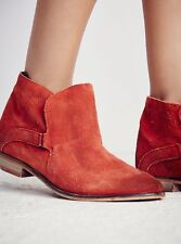 4b7c6f0869e7 NEW Free People Summit Ankle Boots in Red Suede Size 40