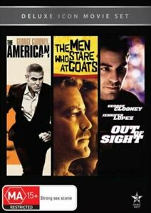 Movie Marathon -The American / The Men Who Stare at Goats / Out of Sight DVD NEW