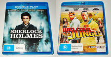 Sherlock Holmes and Welcome to the Jungle (the Rundown) on Blu-Ray. The Rock