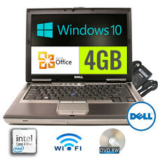 Dell Laptop Latitude Windows 10 4GB RAM 2.0GHz Core2Duo DVDRW Office Wireless