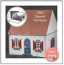 1950s Zip-Up Dolls House Sewing Pattern