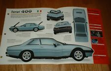 ★★1980 FERRARI 400i SPEC SHEET BROCHURE POSTER PRINT PHOTO 80 76 77-84 400 i★★