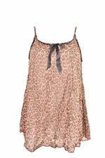 L'Agent By Agent Provocateur Women's Leopard Print Slip Brown S RRP £130 BCF88