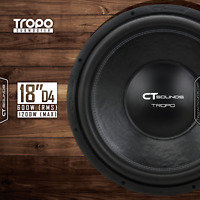 CT Sounds Tropo 18 Inch D4 600 Watt RMS 18 In Dual 4 Ohm Car Subwoofer Audio Sub