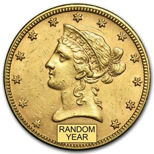 SPECIAL PRICE! US Gold $10 Liberty Head Gold Eagle Random Date AU Condition