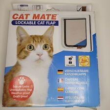 CAT MATE Lockable Cat Flap Door White 2 Way Locking NEW SEALED