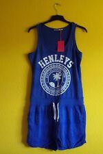 BRAND NEW HENLEYS Ladies Playsuit Shorts, Size 12, Blue