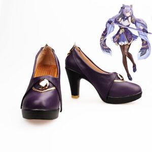 Game Genshin Impact Project KEQING Cosplay Shoe Lolita Women's Shoes Custom Size