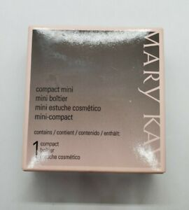 Mary Kay Makeup Compact Mini Black & Pink With Mirror New In Box Unfilled
