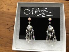 Mariell Genuine Crystal Vintage Chandelier Wedding Bridal Earrings New