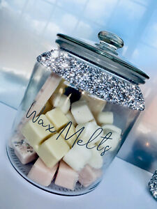 Wax Melts Storage Jar Crushed Diamond Gift Beautiful