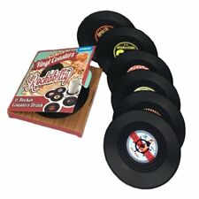 SET OF 6 Rockability Vinyl Records Coasters Place Mats Themed Music Gift Retro