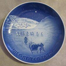 """B&G Bing & Grondahl Denmark Christmas Plate 1972 """"Christmas In Greenland"""" #9072"""
