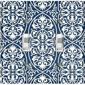 Metal Light Switch Cover Wall Plate For Kitchen Modern Victorian Tile TIL108