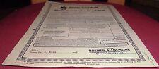 alt kraftfahr versicherungsschein kfz securitas bremer allgem versicherung 1942