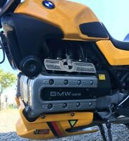 BMW K1100 injector rail cover guard brushed stainless steel cafe racer scrambler