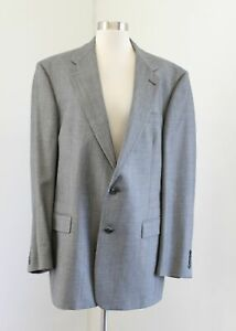 Vtg Mens Burberry - Burberrys Gray Blazer Suit Jacket Sport Coat Size 42l 42 L