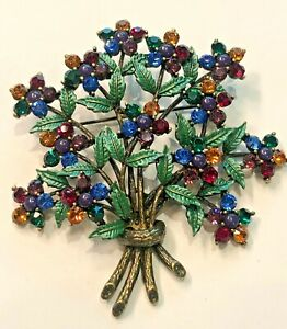 Joan Rivers Crystal Garden Party Pin