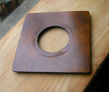 """wooden lensboard 152 x 152mm 6"""" square 67.6mm hole used"""