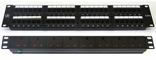 "Cat 6 19"" 48 Port Patch Panel + 8 Way Power Unit Comms Rack Data Network Cabinet"