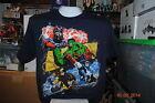 Marvel Avengers / X-men Mad Engine Large Blue T-Shirt / Hulk Spider-man Iron Man