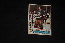 DENIS HERRON 1977-78 O-PEE-CHEE SIGNED AUTOGRAPHED CARD #119 PENGUINS