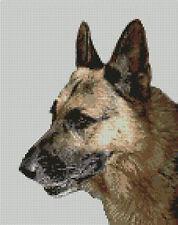 "Alsatian German Shepherd Dog Cross Stitch Kit 7"" x 9.25""  18.3cm x 23.8cm D2171"