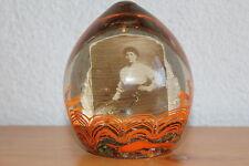 Briefbeschwerer Paperweight Jugendstil Foto Dame um 1900