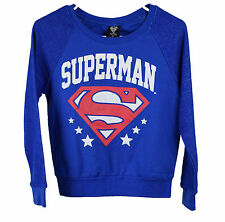 Bioworld Juniors Blue Superman Sweater Top XS