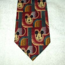 Tie Novelty Cartoon Disney Mickey Mouse Faces Abstract Pattern