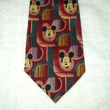 Corbata Novedad Dibujos Animados Disney Mickey Mouse Caras patrón abstracto