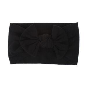 Sweet Nylon Big Bow Hair Bands Baby Headband Elastic DIY Hairwrap Accessory Bulk