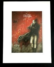 """""""Eye-Liner Labyrinth"""" by Luis Royo 1996 11x14  Matted Print-Fantasy Sci-Fi"""