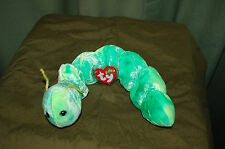 SQUIRMY the Green WORM  - Ty Beanie Baby  - MWMT -  Fast Shipping